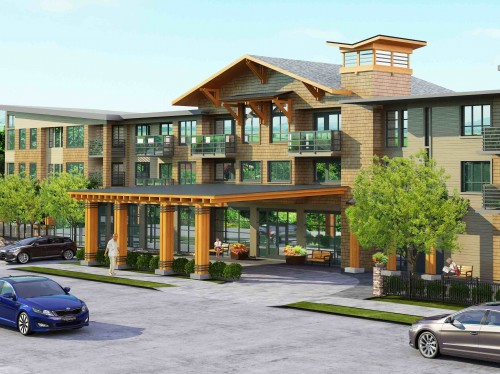 Edgemont Building Entry Rendering